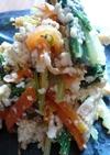 水菜とにんじんの韓国風白和え!