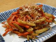にんじんの麺つゆ炒め お弁当のおかずの写真