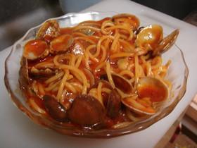 アサリのピリ辛トマトパスタ