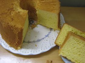全卵使用の基本のシフォンケーキ
