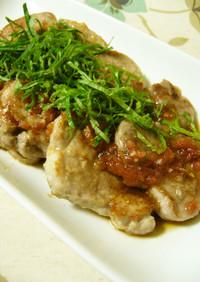 豚ヒレ肉の梅肉ソース