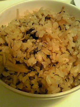 簡単♪炊込み海苔ナメタケ飯☆
