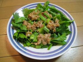 ツナとセロリの新玉ねぎドレッシングサラダ