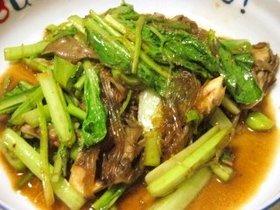 小松菜と春雨のヘルシー中華炒め