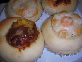 炊飯器で発酵パン(グラタン&ハヤシ)