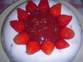 苺のヨーグルトゼリー