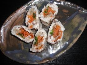 白身魚の野菜巻き