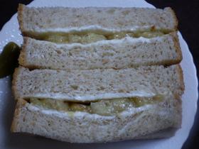クリームチーズとキャラメルバナナのサンド