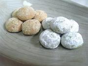 米粉と抹茶☆発酵バターのスノーボールの写真