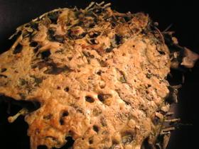 ブリの卵と豆苗のチヂミ