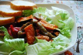鶏とカラフル野菜のケチャップ和え