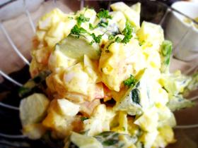 海老と卵のクリームチーズサラダ