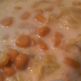 キャベツたっぷりコーンスープ