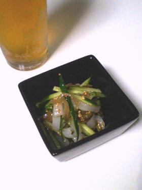 【酒の肴に】イカとザーサイの和え物