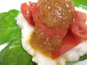 手作りドレッシングDEトマトと長芋サラダ