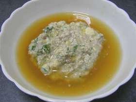 イワシと豆腐の生姜あんかけ