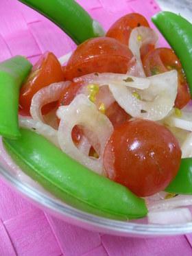 ♪新玉ねぎとミニトマトのマリネ風サラダ♪