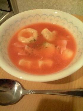 ニョッキのトマトコンソメスープ