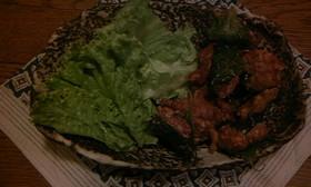 豚挽肉根菜揚げ