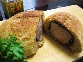 塩豚で☆アルザス風豚肉のパン包み焼き