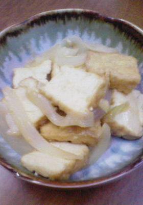 厚揚げと新玉ねぎの味噌炒め