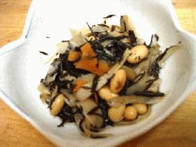 レンジでかんたん★ひじきと大豆の煮物