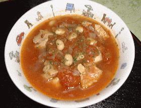 鶏肉の大豆煮込み(トマトソース)