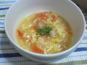 トマトとふわふわ卵のイタリアンスープ