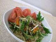 野菜マリネの冷やし中華の写真