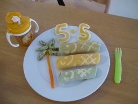 こどもの日☆ホットケーキで鯉のぼり☆