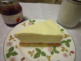レアチーズケーキ~いちごジャムをそえて~