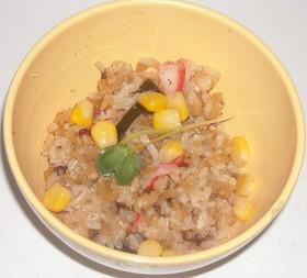 赤貝の缶詰&油揚げ&昆布の炊き込みご飯