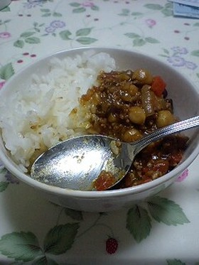 【豆】簡単ガンバンゾー!!カレー【豆】