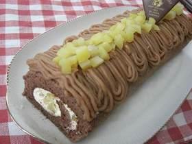 モンブランチョコロールケーキ♪