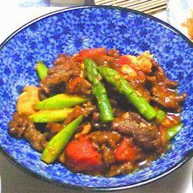 完熟トマト♡のカレー肉豆腐