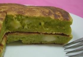 アボカドとチーズのパンケーキ