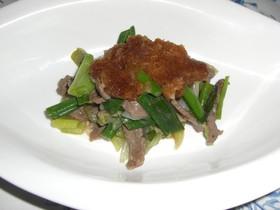 青ねぎと牛肉炒め大根おろしソース