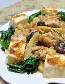 焼き肉のたれでチン♪タケノコと鶏の中華風