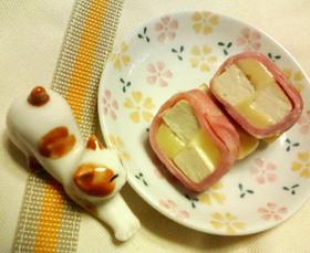 お弁当にも✿厚揚げチーズ❀ベーコン巻き✿