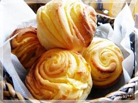 手作りシートでカスタード折込パン
