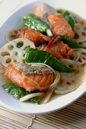 鮭と色々野菜の南蛮漬け