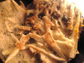 山芋と高菜のチヂミ