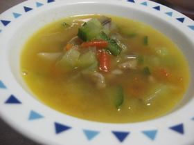 夏野菜の簡単スープ