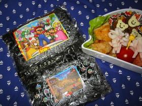 DS風おにぎり☆お弁当にキャラ弁風♪