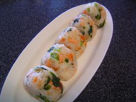 野沢菜と鮭のおにぎり☆