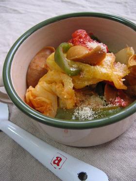 キャベツとウィンナーのトマト煮