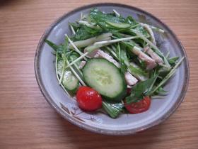 とりハムと水菜のサラダ