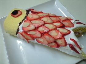 鯉のぼりロールケーキデコ