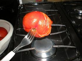 早い!簡単!確実!トマトの皮のあぶり剥き