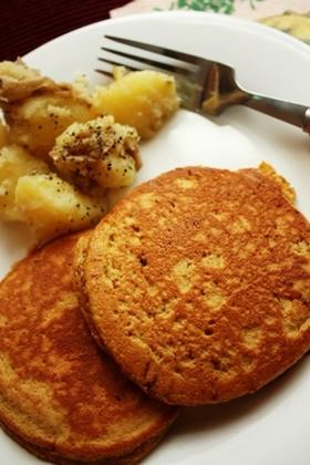 HKMで♪ふわ~んふわん♪黒糖パンケーキ